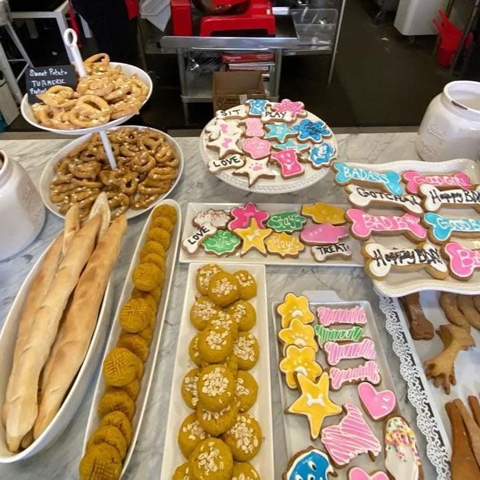 selection of fresh baked dog treats