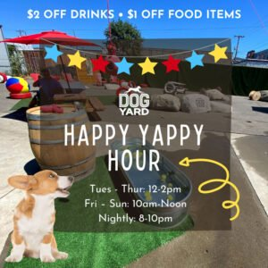 Ballard dog friendly happy hpur