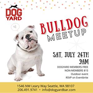 Bulldog meetup in Ballard